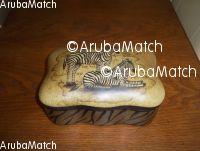 Aruba opbergdoos porselein in afrikaanse style