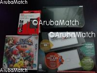 Aruba new Nintendo 3DS XL with game and charger.