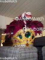 Aruba Carnavals hoed met slang als decoratie