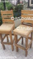 Aruba Bar stools from palletwood