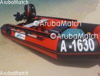 Aruba Inflatable 10 ft PVC boat incl Tohatsu 2 stroke 9.8 outboard eng